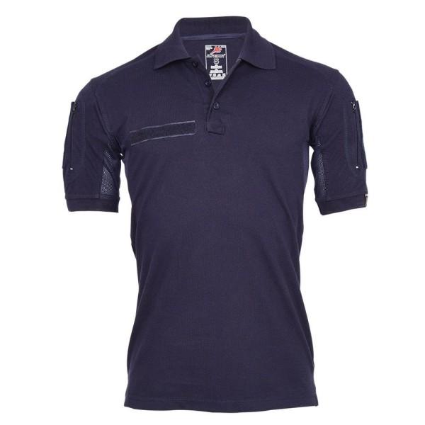 Tactical Polo Shirt ALFA navy blue firefighter professional apparel Shirt #22403