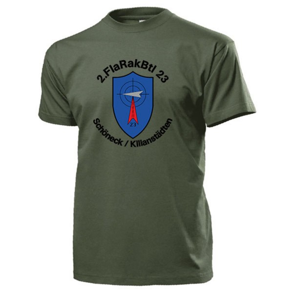 2 FlaRakBtl 23 Flugabwehrraketenbataillon Bundeswerh Wappen - T Shirt #13346