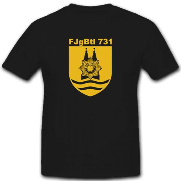 FJgBtl 731 Feldjägerbataillon Feldjäger Bundeswehr BW Wappen - T Shirt #7449