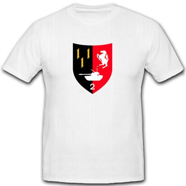 PzBtl 2 Panzer Bataillon Deutschland Militär Bundeswehr Wappen - T Shirt #12158