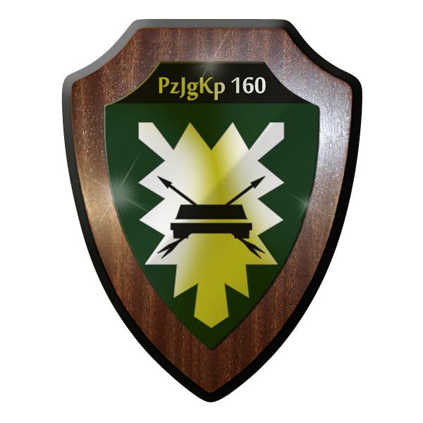 Wappenschild -PzJgKp Panzerjägerkompanie 160 Heer Bundeswehr Bund Bw #9278