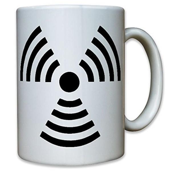 Radioaktivität radioaktive Strahlung Uran Atom Warnung Warnzeichen Tasse #12205