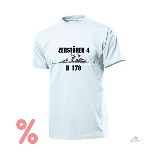 SALE Shirt Destroyer 4 D178 German Navy Fletcher Z4 Navy BW - T Shirt # R164