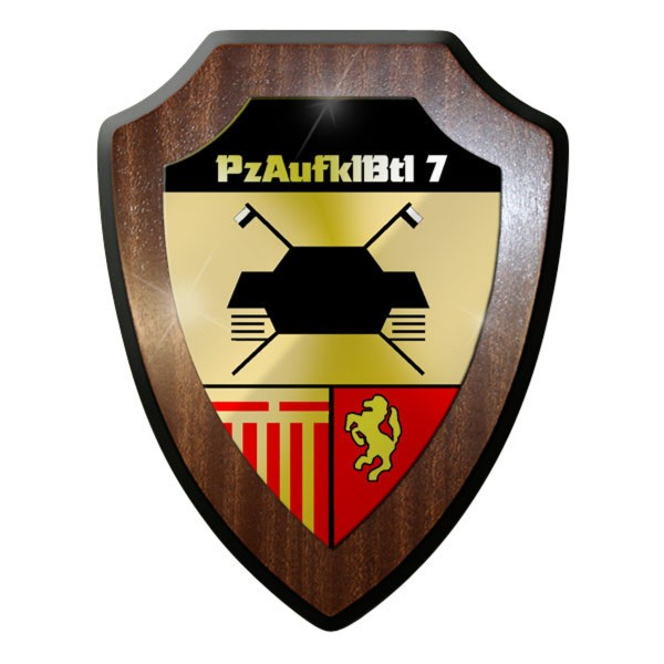 Wappenschild / Wandschild - PzAufklBtl 7 Panzeraufklärungsbataillon Bund #8838