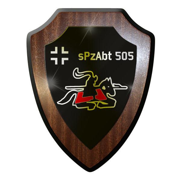 Wappenschild - sPzAbtl 505 Panzer reitender Ritter Pferd Wappen #8809