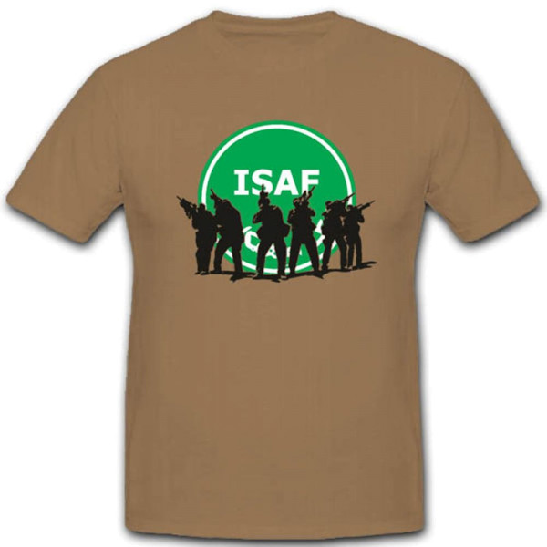 Isaf Soldaten Bundeswehr Silouette Abzeichen ISAF in Action - T Shirt #2769