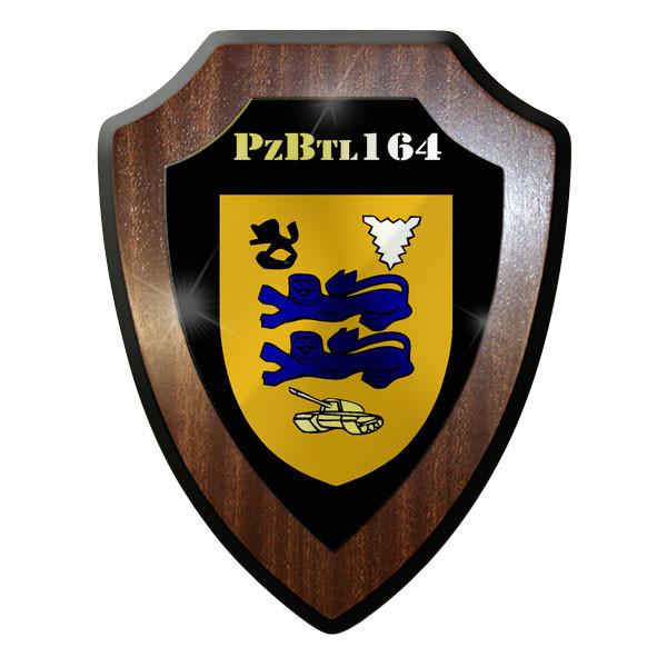 Wappenschild / Wandschild - Panzerbataillon 164 PzBtl Panzer Wappen #9031