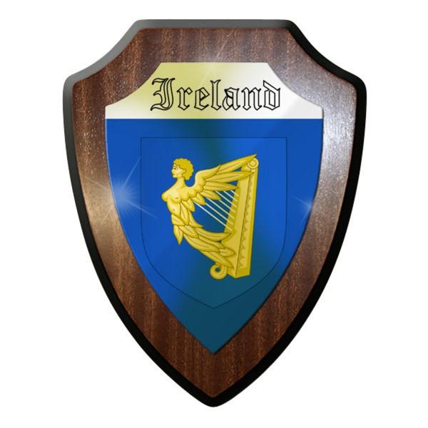 Wappenschild / Wandschild / Wappen - Ireland Flagge Harfe Fahne Irisch #11900