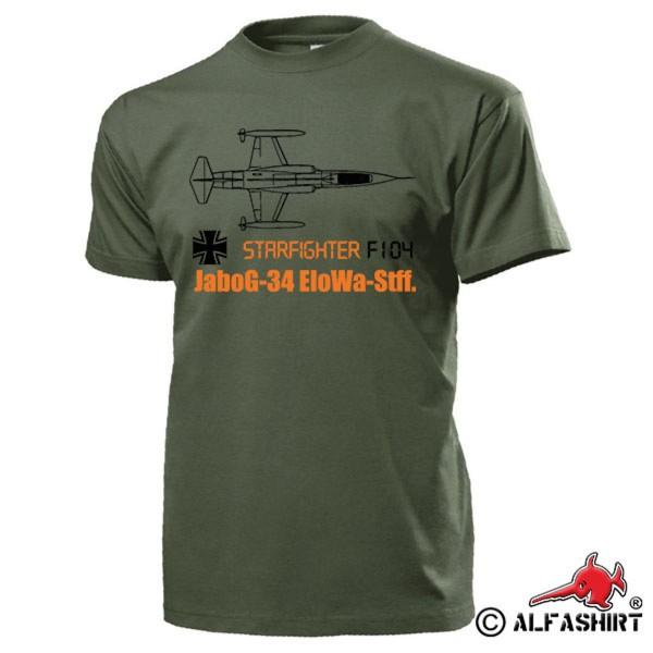 JaboG 34 EloWa Stuff F104 Starfighter LW Jag Bomber Squadron T Shirt # 15601