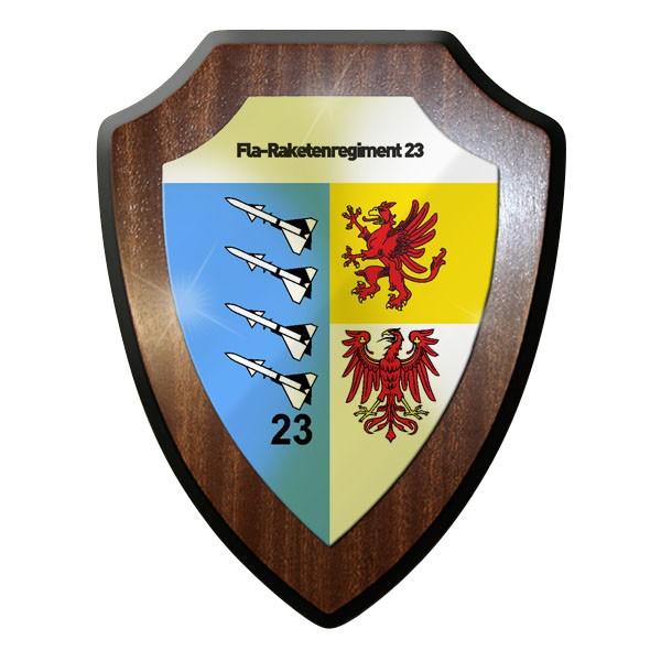 Wappenschild / Wandschild / Wappen - Fla-Raketenregiment 23 Flugabwehr #11649