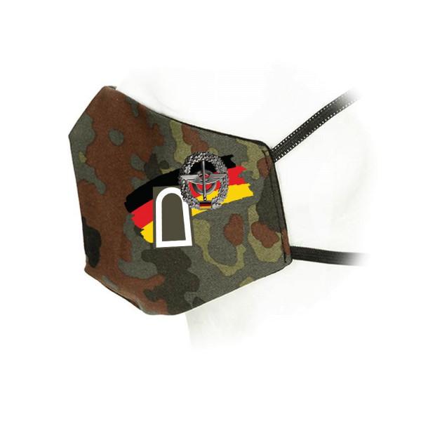Flecktarn Maske Nachschub Truppe Kragenspiegel Versorgung Bundeswehr #35931