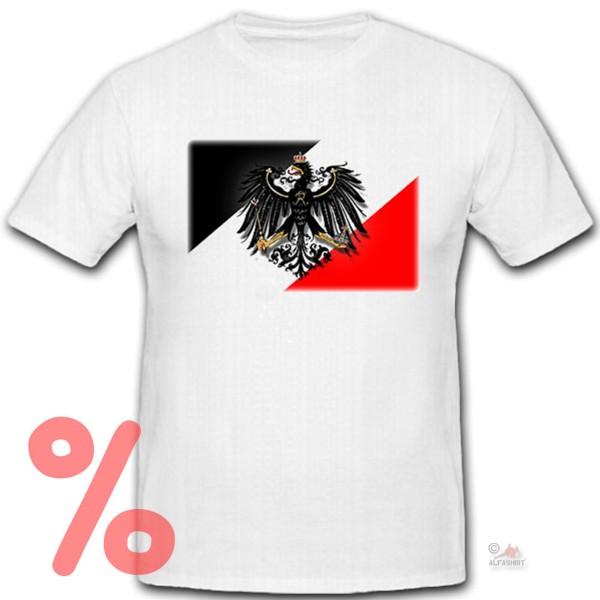 Gr. XL - SALE Shirt Preussen Adler schwarz weiß-rot Deutschland Heimat #R1026