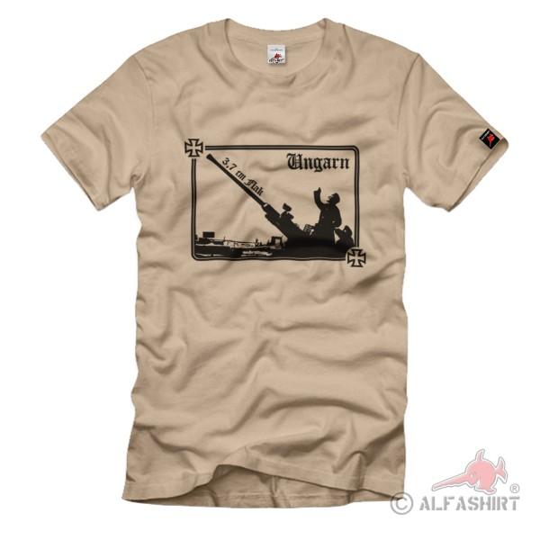 Hungary Flak Budapest Soldiers Rifle General Staff Air Fleet - T Shirt # 1240