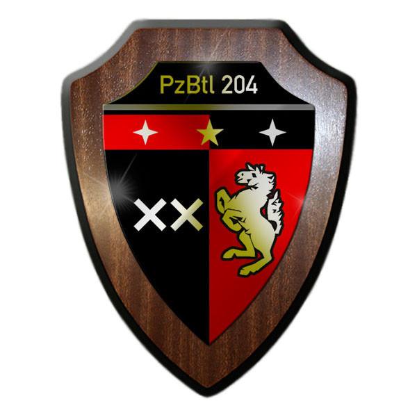 Wappenschild / Wandschild - PzBtl 204 Panzerbataillon 204 Typ 4 Einheit #13622