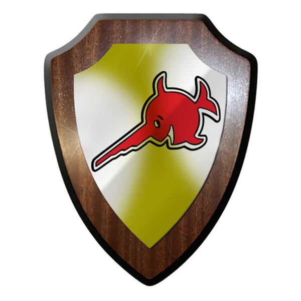 Wappenschild / Wandschild / Wappen - Sägefisch Schwertfisch Alfashirt Logo #6912