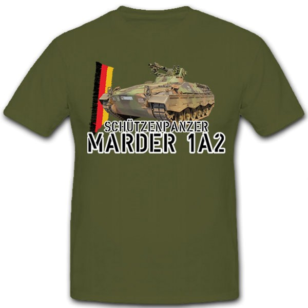 Armored personnel carrier Marder 1A2 Panzer Panzergrenadiere Confederation Bw - T Shirt # 10260
