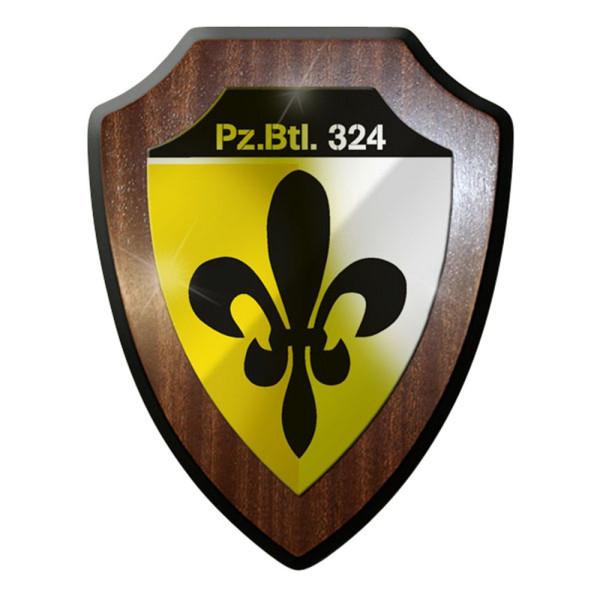 Wappenschild / Wandschild / Wappen - PzBtl 324 Panzerbataillon Panzer #8423