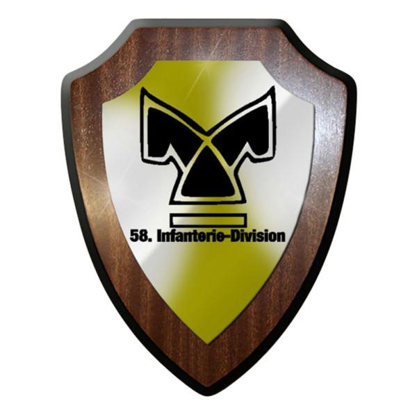 Wappenschild / Wandschild / Wappen - 58. Infanterie Division InfDiv #7062