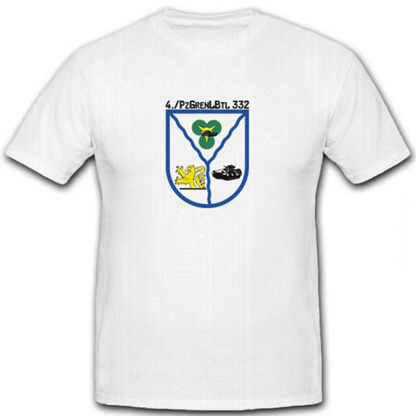 4 PzGrenLBtl332 Bundeswehr Wappen Emblem Abzeichen Militär- T Shirt #6576