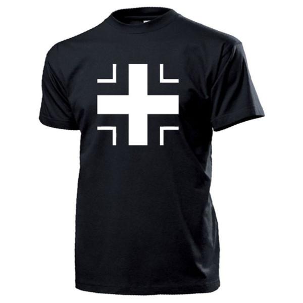 Weißes Balkenkreuz Wh Hoheitsabzeichen Panzer Kennung Luftwaffe - T Shirt #13385