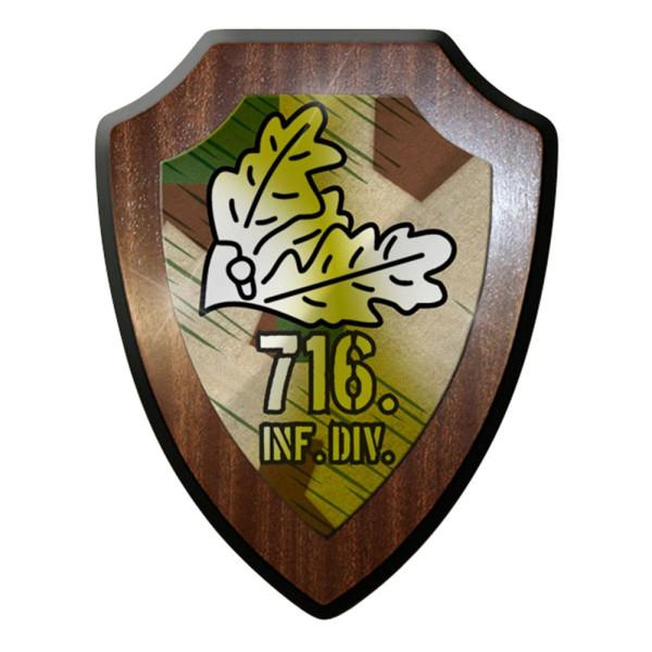 Wappenschild / Wandschild / Wappen -716 Inf Div 716 Wk #7890