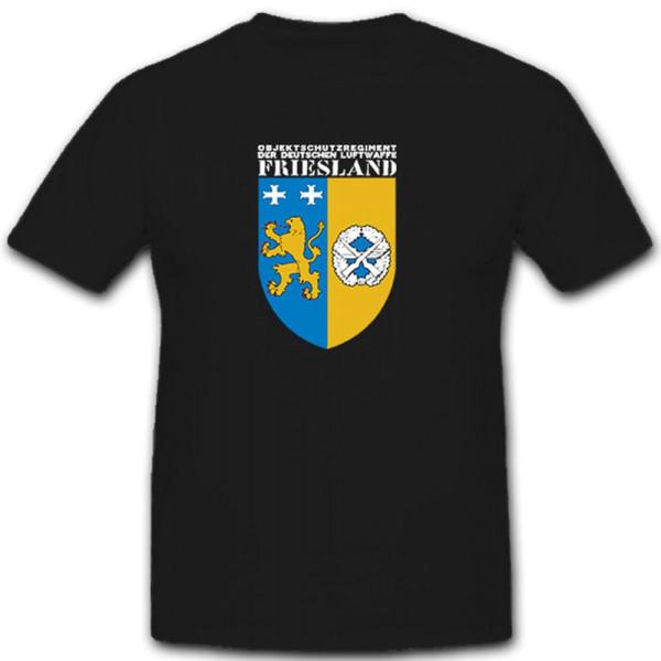 """Wappen des Objektschutzregimentes der Luftwaffe """"Friesland"""" T Shirt #6110"""
