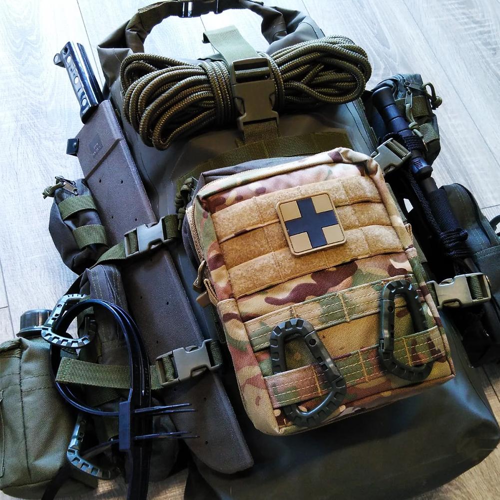 34043ab_Fluchtrucksack-extrem_First-Aid-Erste-Hilfe-Verbandszeug-Karabiner-Harken-Kanmpfmesser-Bundeswehr-Seil-Molle-Taschen