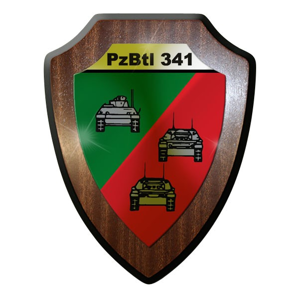 Wappenschild -PzBtl 341 Panzerbataillon Panzer Bataillon Hohllandung #9334