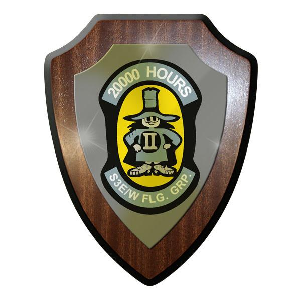 Wappenschild / Wandschild / Wappen - 2000 Hours S3E W Flg Grp #11624
