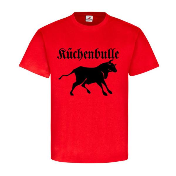 Küchenbulle Stier Küche Totenkopf Skull Kochmütze kochen grillen - T Shirt #5541