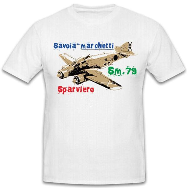 Savoia Marchetti SM 79 Italy Italian Bomber Aircraft WW - T Shirt # 12288