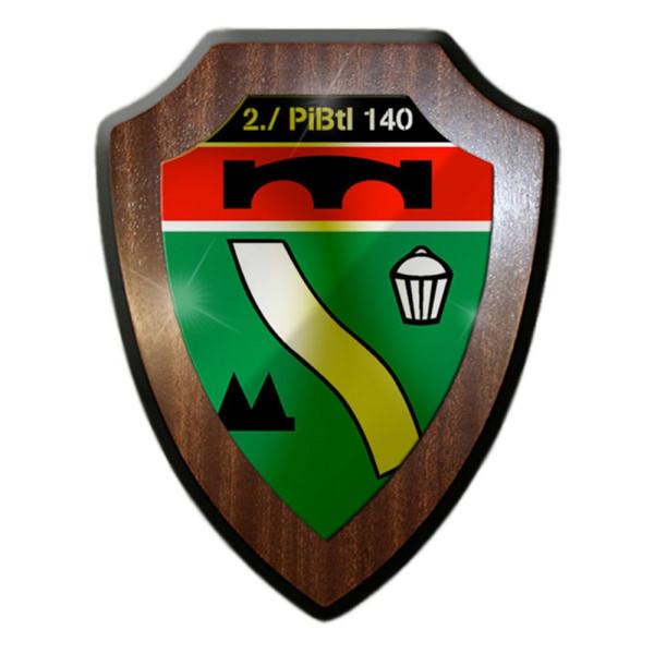 Wappenschild / Wandschild - 2 PiBtl 140 Pionierbataillon Pioniere #13135