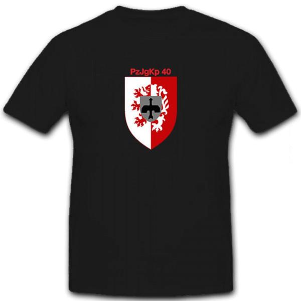 PzJgKp 40 Panzerjägerkompanie Bundeswehr TOW Wappen Kassel - T Shirt #12666
