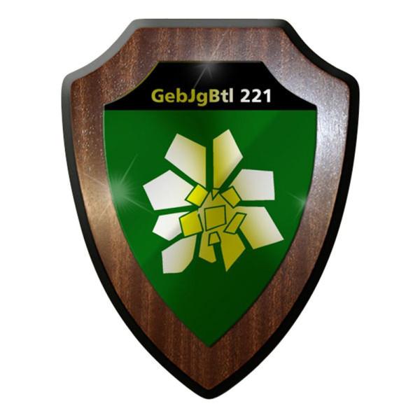 Wappenschild / Wandschild / Wappen - GebJgBtl Gebirgsjäger Bataillon 221 #8409