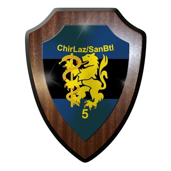 Wappenschild / Wandschild - ChirLaz SanBtl 5 Sanitäts Bataillon 5 Bw - #11716