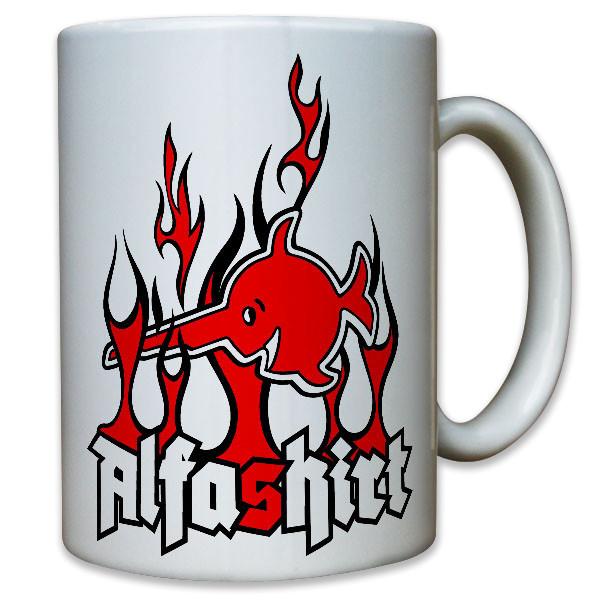 Sägefisch Schwertfisch Alfashirt Logo Firmenlogo Abzeichen - Tasse #11544