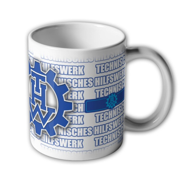 Mug THW Helfer Technical Relief Service registration number # 33567