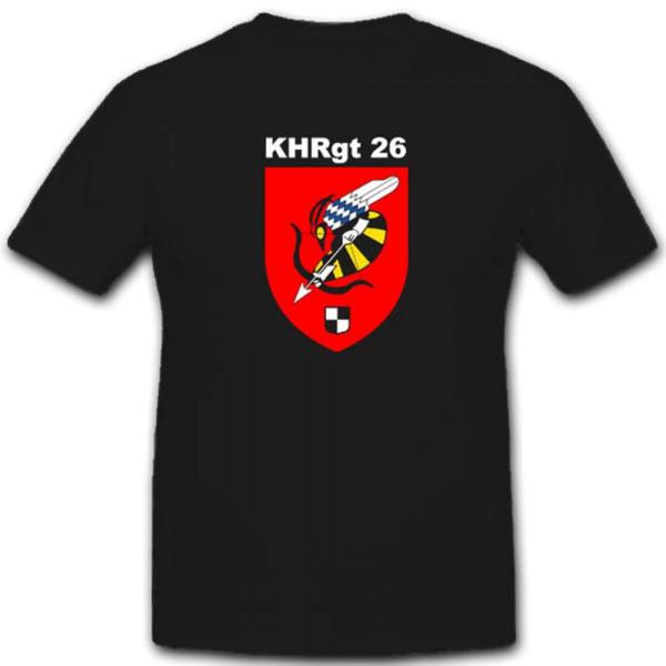 Kampfhubschrauberregiment 26 KhRgt 26 Bundeswehr Kaserne T Shirt #3363