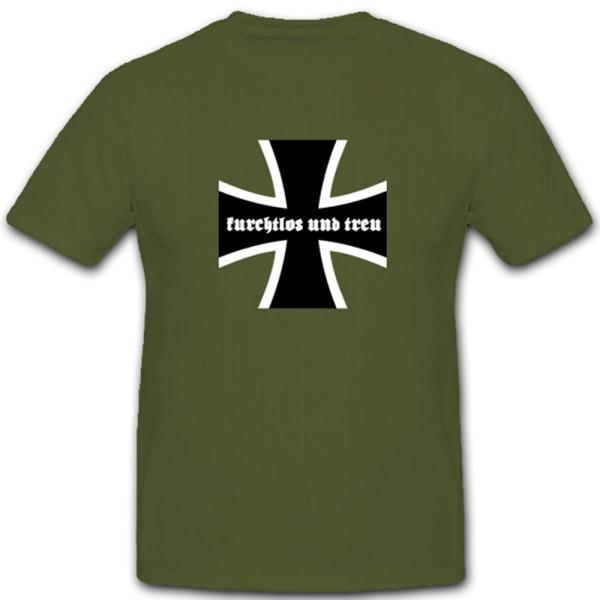 Furchtlos und Treu Bundeswehr BW EK Kreuz Deutschland Militär - T Shirt #4695