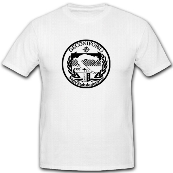 GECONIFOR(L) Stab Stabskompanie Trogir 1996 Militär Wappen - T Shirt #7865