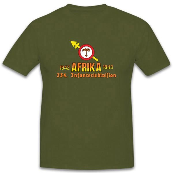 334 Inf Div Infanteriedivision Wh DAK 1942-1943 Wappen - T Shirt #11162