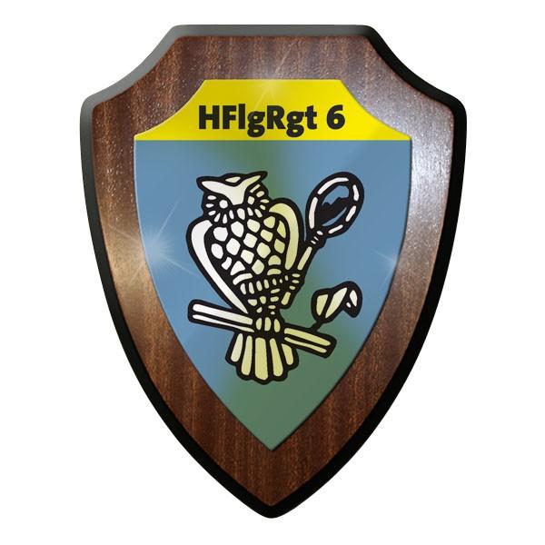 Wappenschild / Wandschild / Wappen - HFlRgt 6 Heeresfliegerregiment 6 #11704