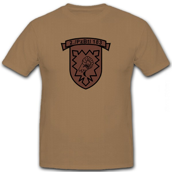2 PzBtl 183- T Shirt #6055