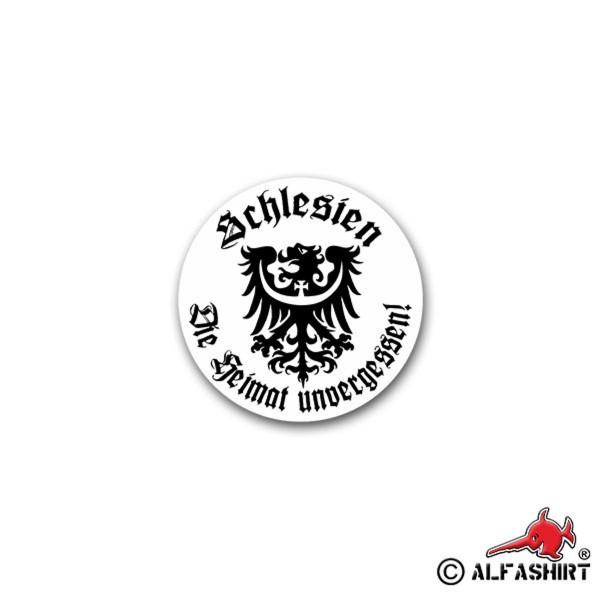 Aufkleber/Sticker Schlesien Wappen Heimat unvergessen Militär 7x7cm A1847