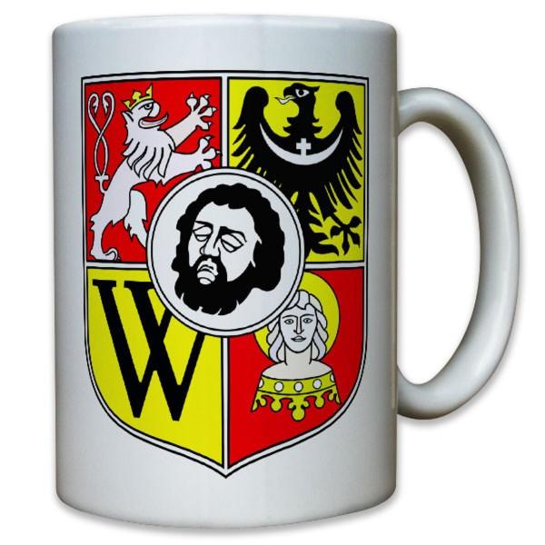 Breslau Polen Schlesien Johannes der Täufer Löwe Adler - Tasse #11388