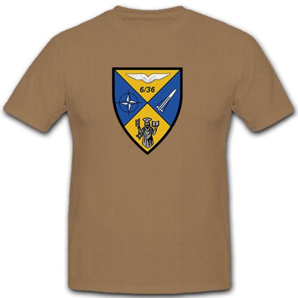 6./FlaRakBtr 36 Flugabwehrraketenbatterie Verteidigung Flugabwehr T Shirt #10506