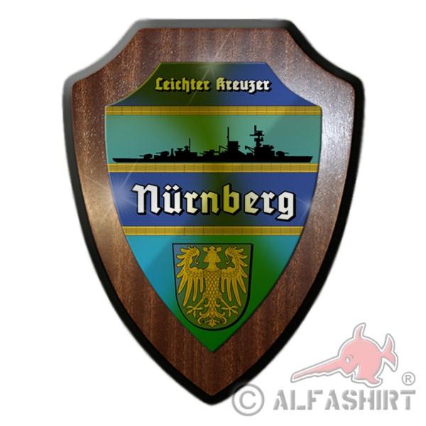 Wappenschild Leichter Kreuzer Nürnberg Schiff Uriss Wappen Abzeichen #12067