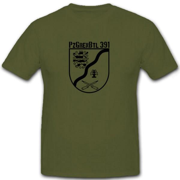 PzGrenBtl 391 Bundeswehr Wappen Werratal Kaserne Abzeichen - T Shirt #6959