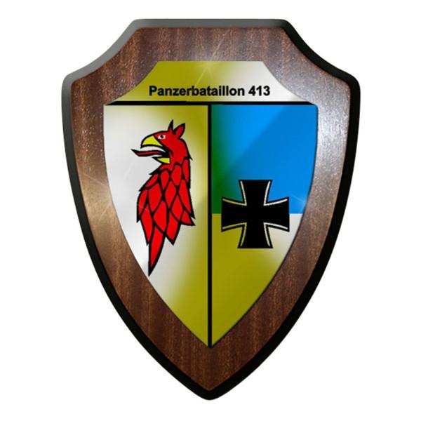 Wappenschild / Wandschild / Wappen - PzBtl 413 Panzerbataillon #8328