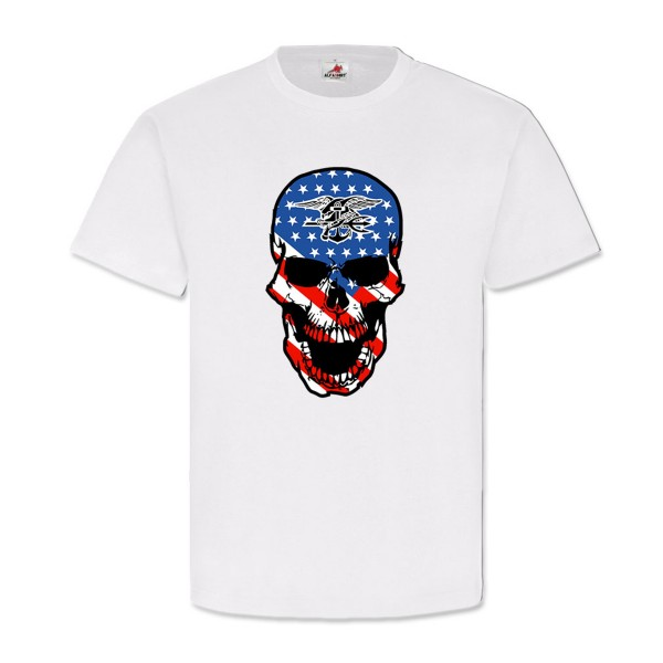 US Navy Seals Skull United States Skull SEAL T Shirt # 12497